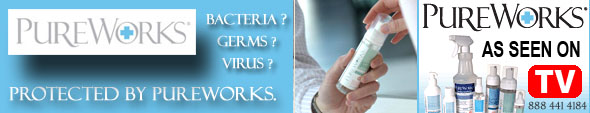 """PureWorks' Antimicrobial Lotion"" the most powerful antimicrobial skin treatment on the market today."